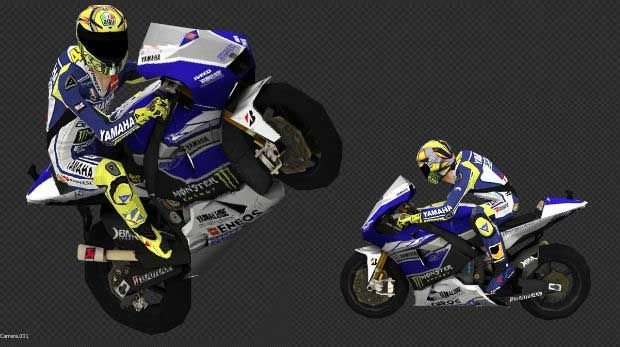 Valentino Rossi With Yamaha Yzr M1 Free Paper Model Download Con