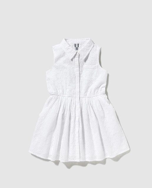 ffcd33ba0 Vestido camisero de niña Freestyle blanco Vestido Camisero, Ropa Para Niñas,  Hijos, Primavera
