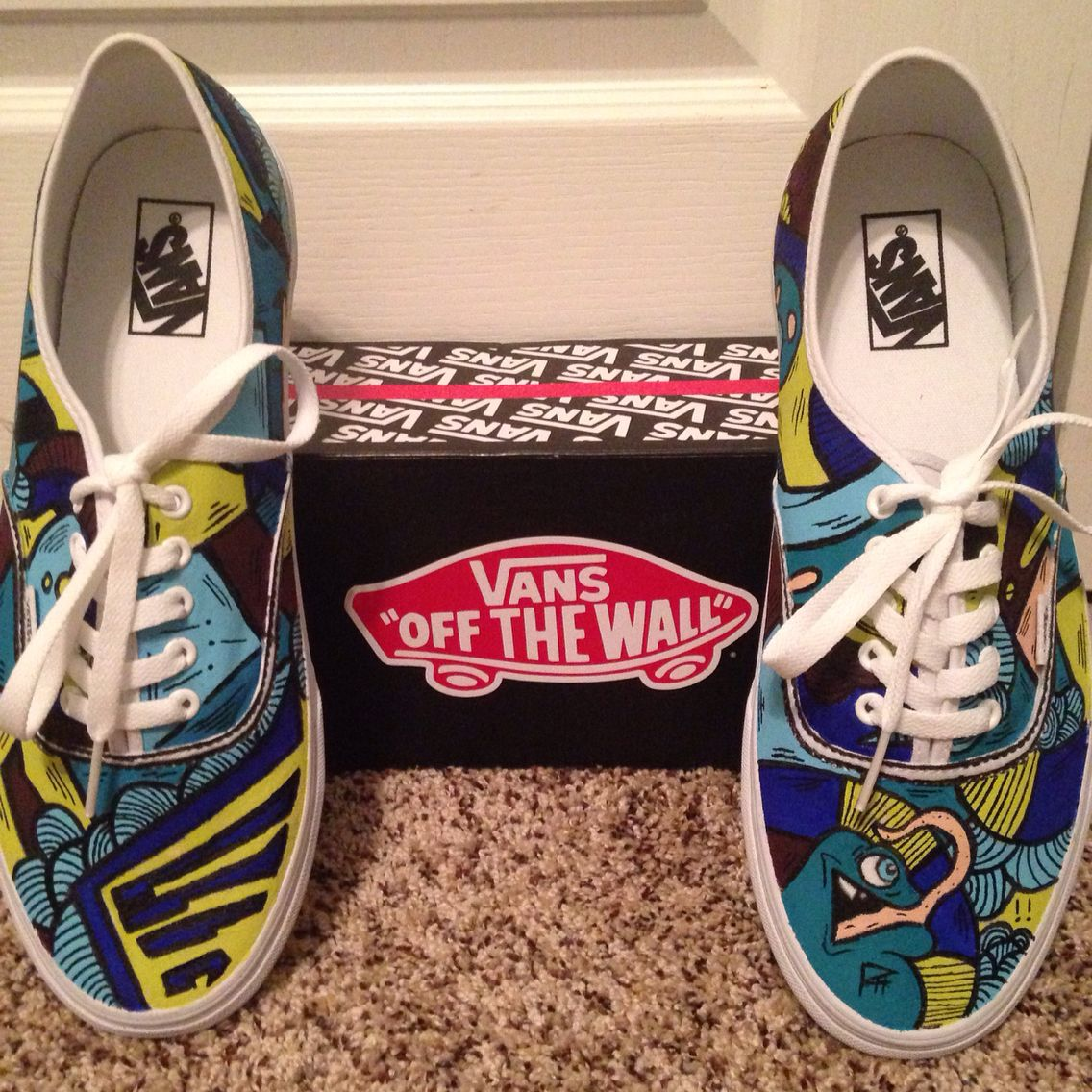 1c2f66a1f6 My custom hand painted Vans. Inspired by SLOTH
