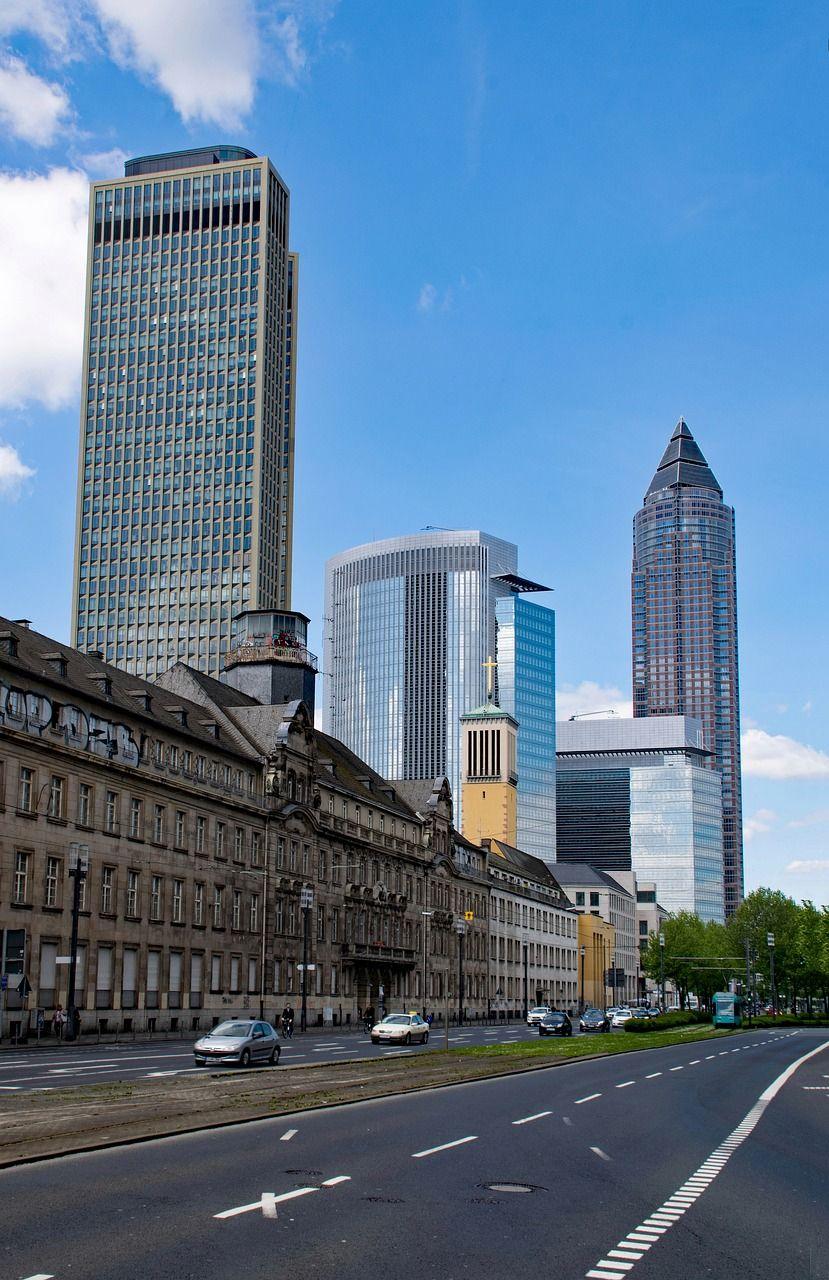 Germany, Frankfurt, Hesse, Germany, Skyline germany,