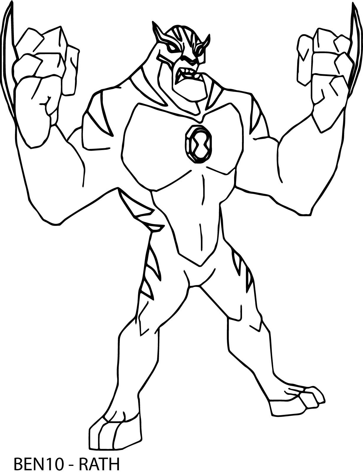 Cool Rath Ben 10 Alien Force By Bentenny 10 Coloring Page Coloring Pages Geometric Coloring Pages Planet Coloring Pages
