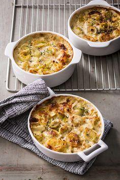 Gratin de poireaux au parmesan - A Vos Assiettes, Recettes de cuisine illustrées