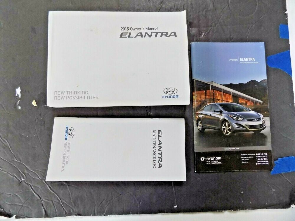 2015 Hyundai Elantra Owner S Manual New Original With Maintenance Log Case In 2020 Elantra Owners Manuals Hyundai Elantra