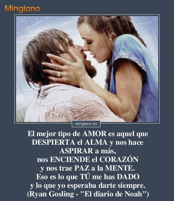 Frase De Amor Muy Linda Con Imagenes De La Pelicula El Diario De Noa