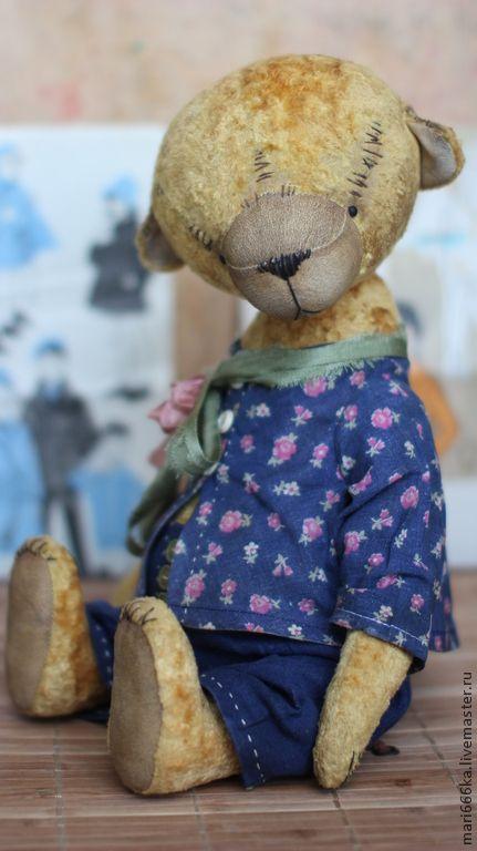 Купить Митроша - желтый, Плюшевый мишка, тедди, тедди мишка, ретро стиль, винтажный стиль