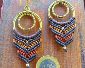 macrame earrings by MacraMogly on Etsy