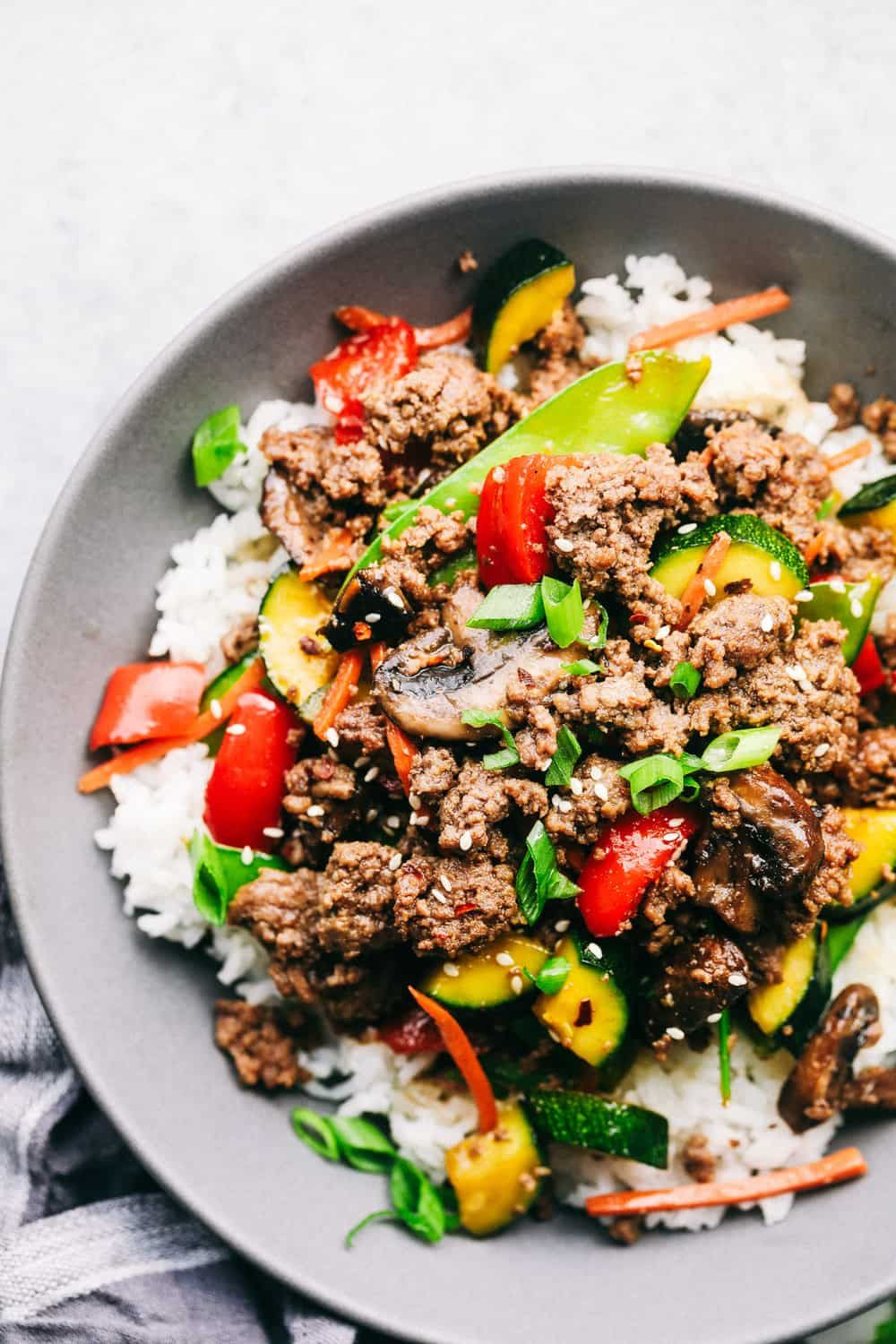 Korean Ground Beef Stir Fry Is Incredibly Easy To Make And Has The Best Flavor This Is Dinner With Ground Beef Beef Stir Fry Recipes Best Ground Beef Recipes