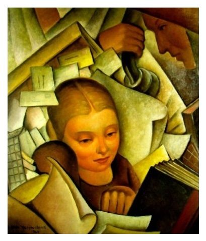 The Secretary Oil On Board By Adele Younghusband Plocomiartsnz