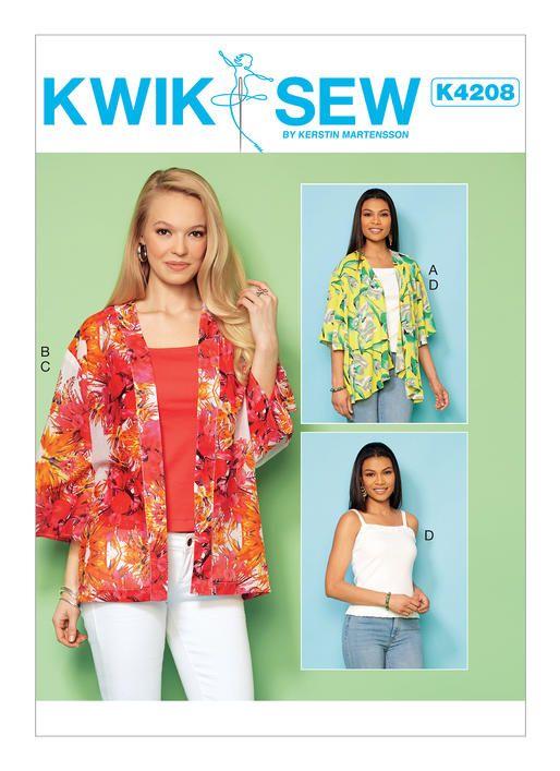 K4208 Kwik Sew Patterns Sewing Pinterest Kwik Sew Kwik Sew