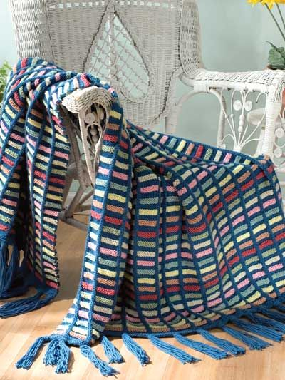 Rainbow Ladder FREE knit afghan pattern download. Find ...