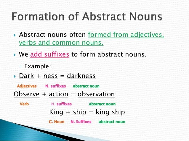 how to use abstract nouns in sentences