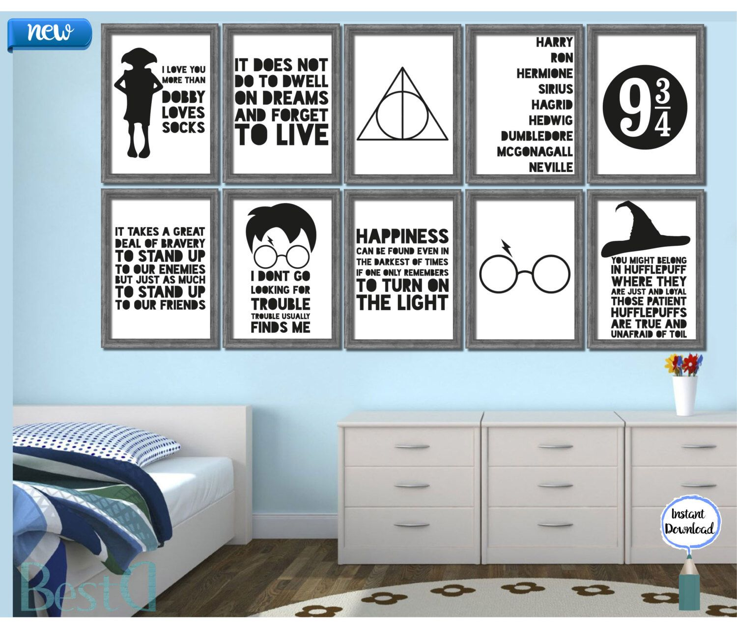 Harry Potter quotes set of 10 printable,Harry Potter inspirational quote printable,boy kids room poster,Instant Download wall art boy poster by BestDesignland on Etsy https://www.etsy.com/listing/261642512/harry-potter-quotes-set-of-10
