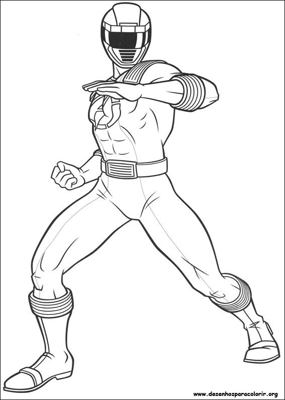 Power Rangers Coloring Page Power