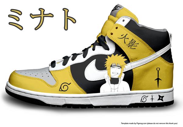 Minato 4th Hokage High Top Nike Dunks