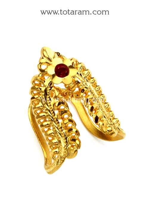 c22d3cf9323694 22K Gold Vanki Ring With Red Stone | Things to Wear in 2019 | Gold ...