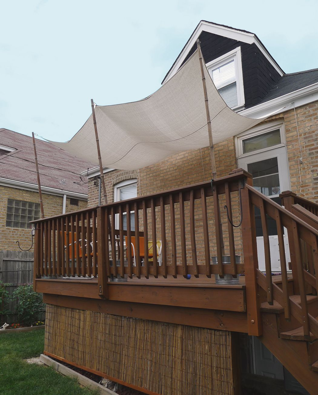 Diy Deck Shade About 50 Materials Cotton Painter S