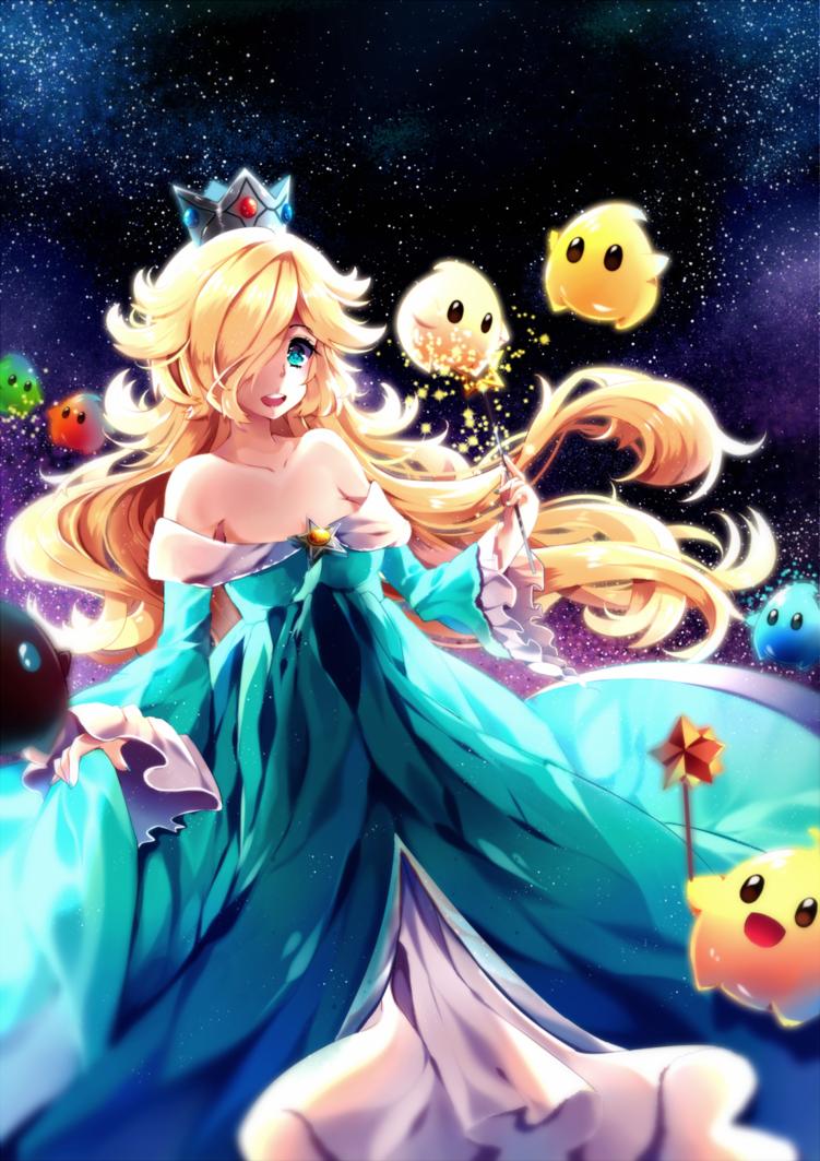 Rosalina And Luma Sai File Available Super Mario Art Anime Mario Bros