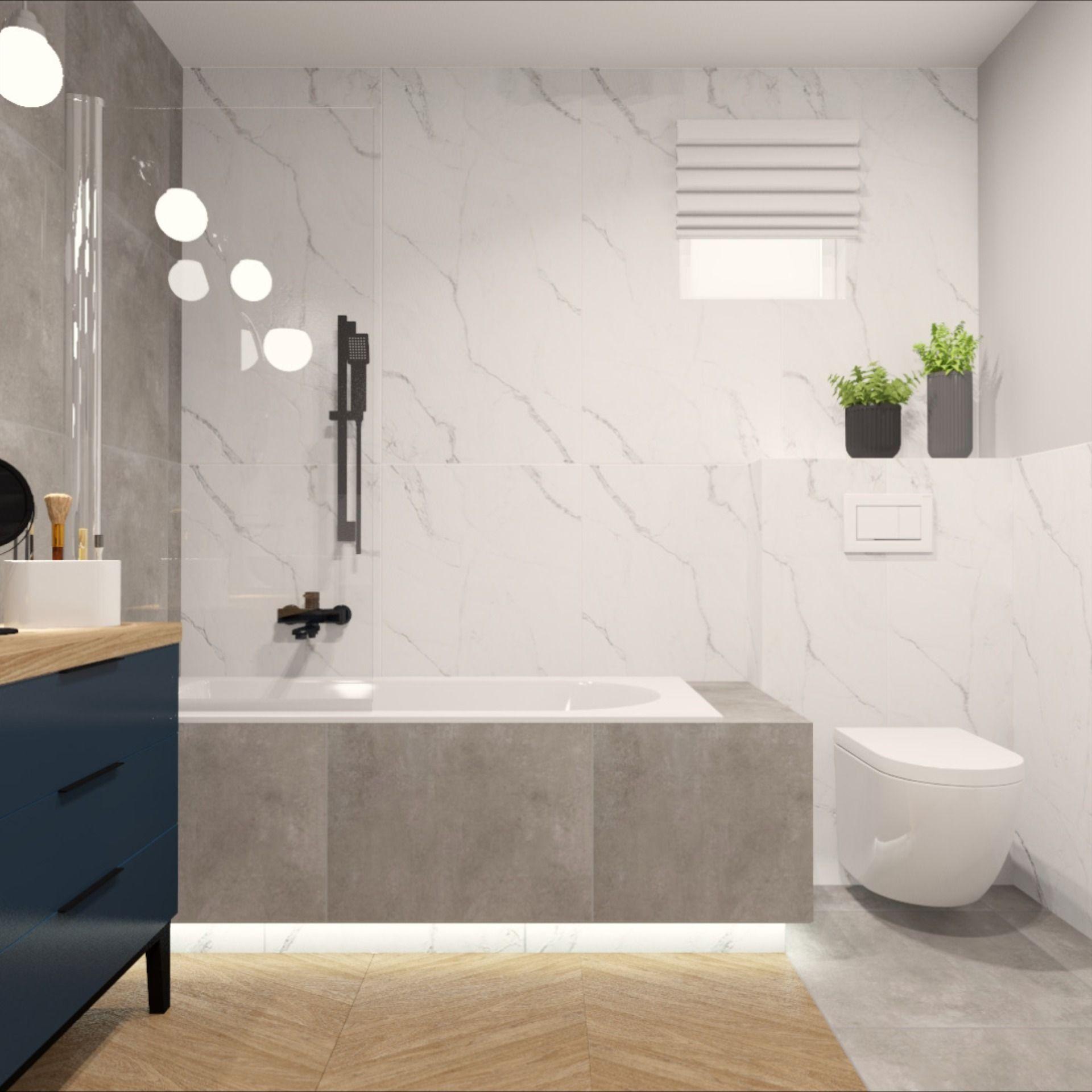 Lazienka Wersja Pierwsza Projekt Aranzacja Wnetrz Podswietlenie Led Bath Bathroom Interrior Kubik Bathroom Bathtub