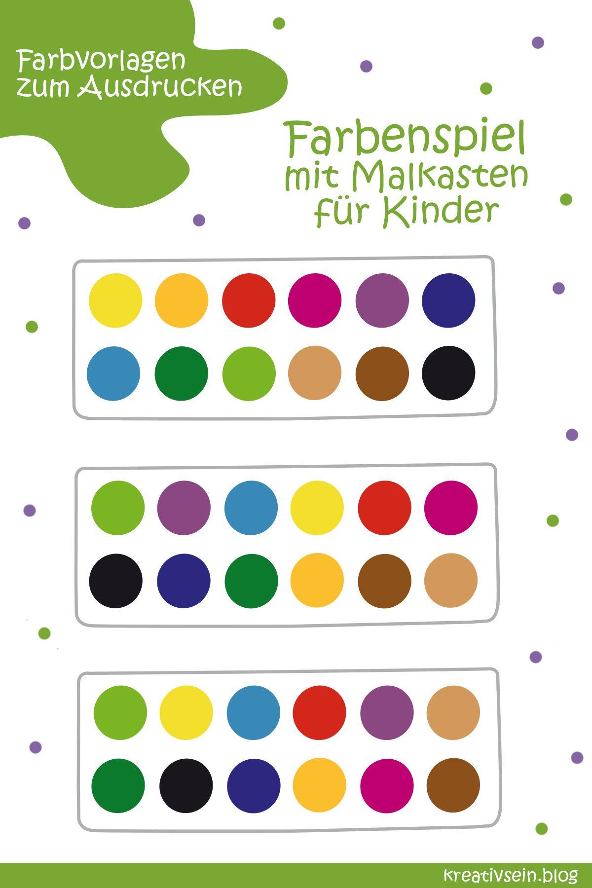 7 Tolle Spiele Zum Farben Lernen Kreativsein Blog Farben Lernen Lernen Projekt Farben Kindergarten