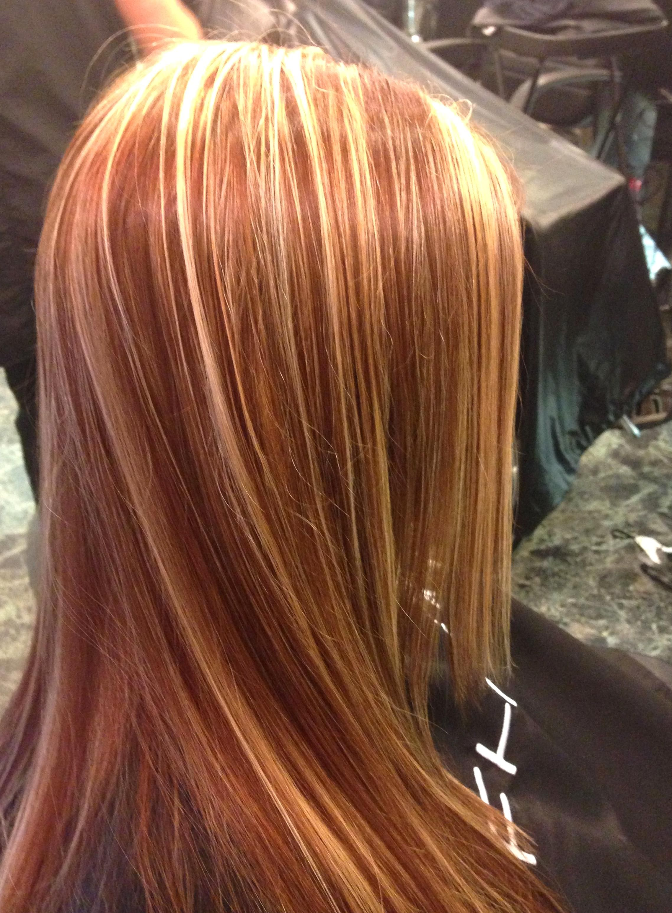 Red Copper Blonde Highlights Fall Hair In 2020 Strawberry Blonde Hair Color Red Blonde Hair Blonde Hair Color