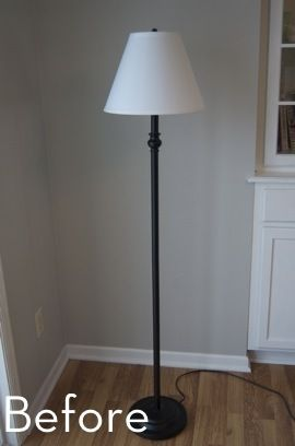 A Glam Bam Floor Lamp Makeover Floor Lamp Makeover Lamp