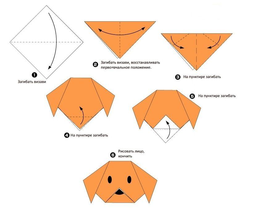 Картинки как делать поделки оригами