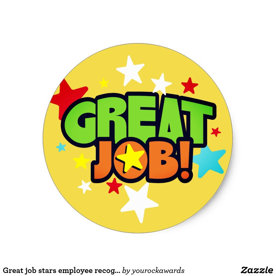 Great job stars employee recognition stickers