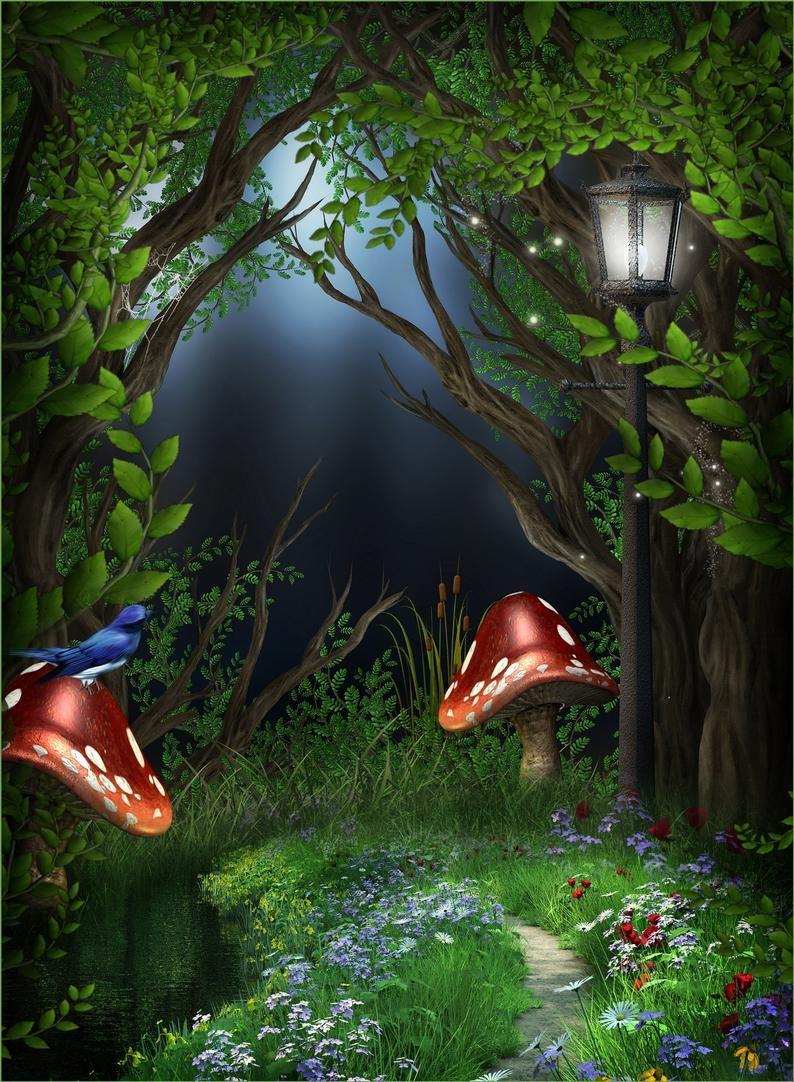 Digital Studio Instant Download Backdrop Photography Photo Background Screen Prop Child Fairytale Scrapbook Photo Backgrounds Fantasy Landscape Photography Backdrops