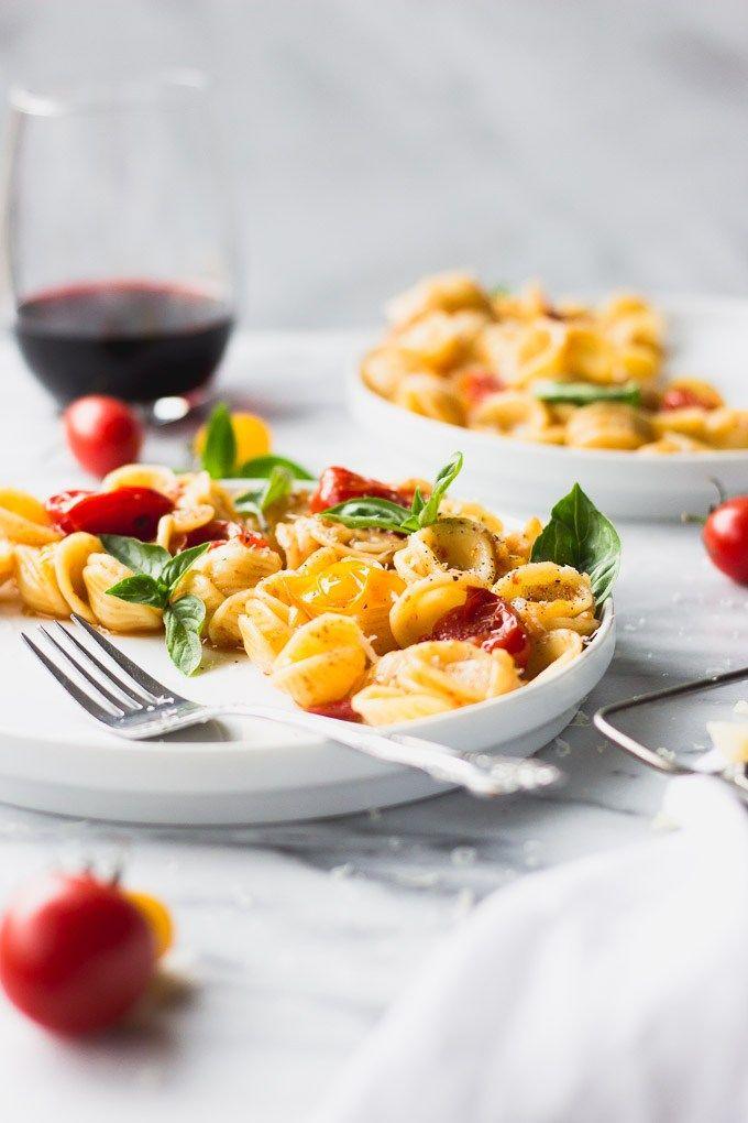 5 Ingredient Blistered Tomato Pasta