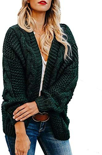 Amazing offer on Womens Cable Knit Open Front Plus Size Cardigan Sweaters Long Boyfriend Chunky Cardigans online - Prettyclothingstyle
