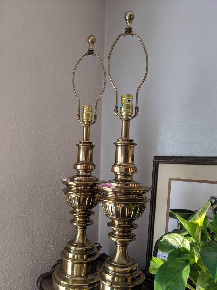 Vintage Stiffel Brass Table Lamp Pair 32 Tall Brass Table Lamps Stiffel Brass Table