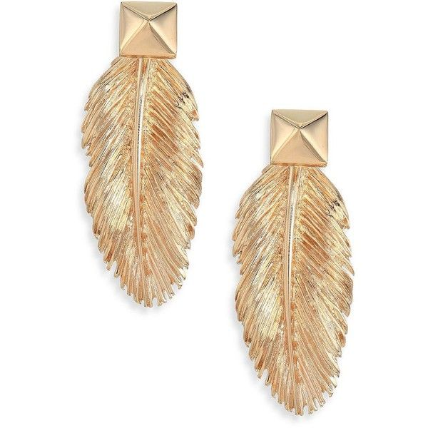 Valentino Feathers Studded Drop Earrings