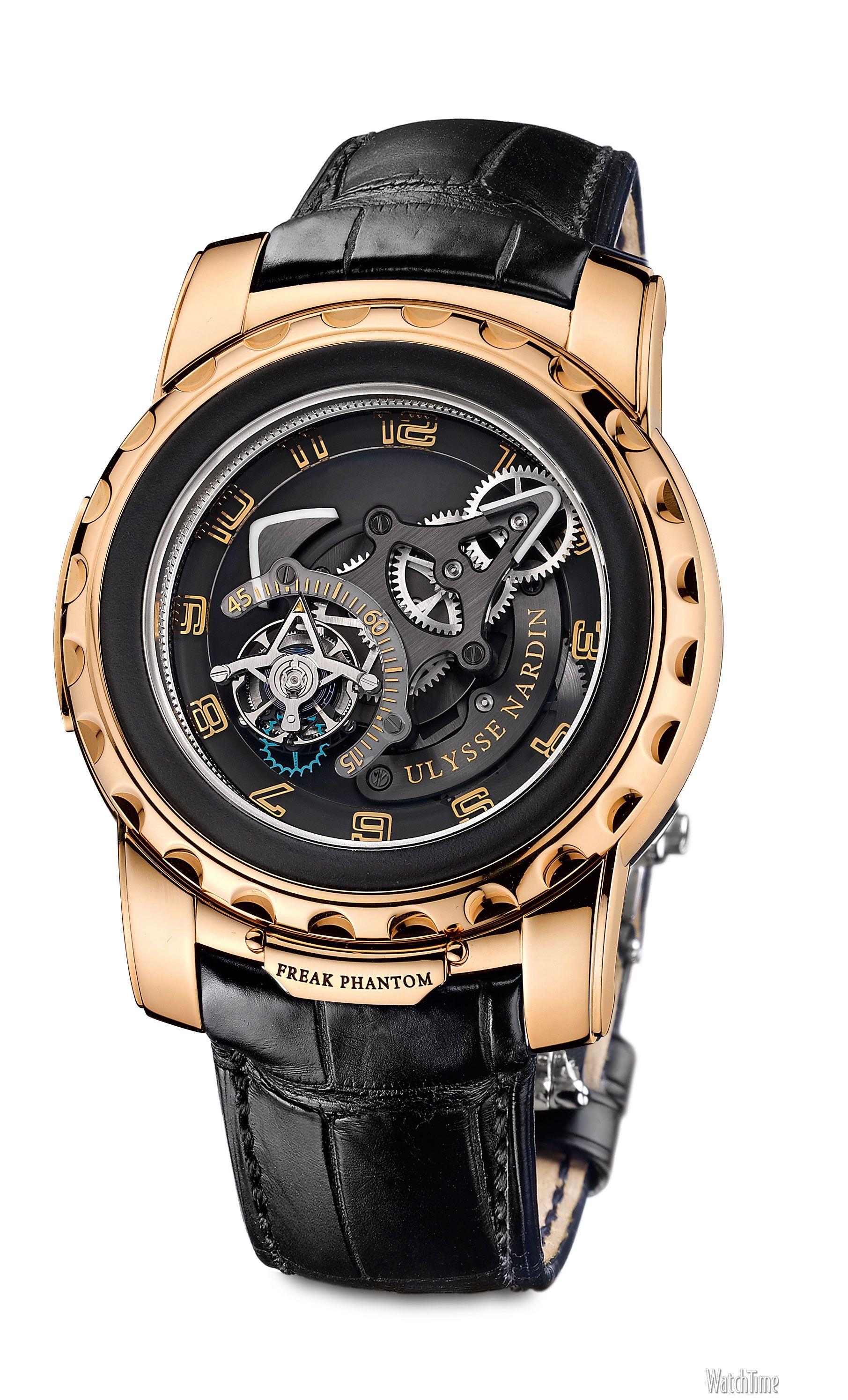 Close Up Ulysse Nardin Freak Phantom Fashion Watches Watches For Men Skeleton Watches
