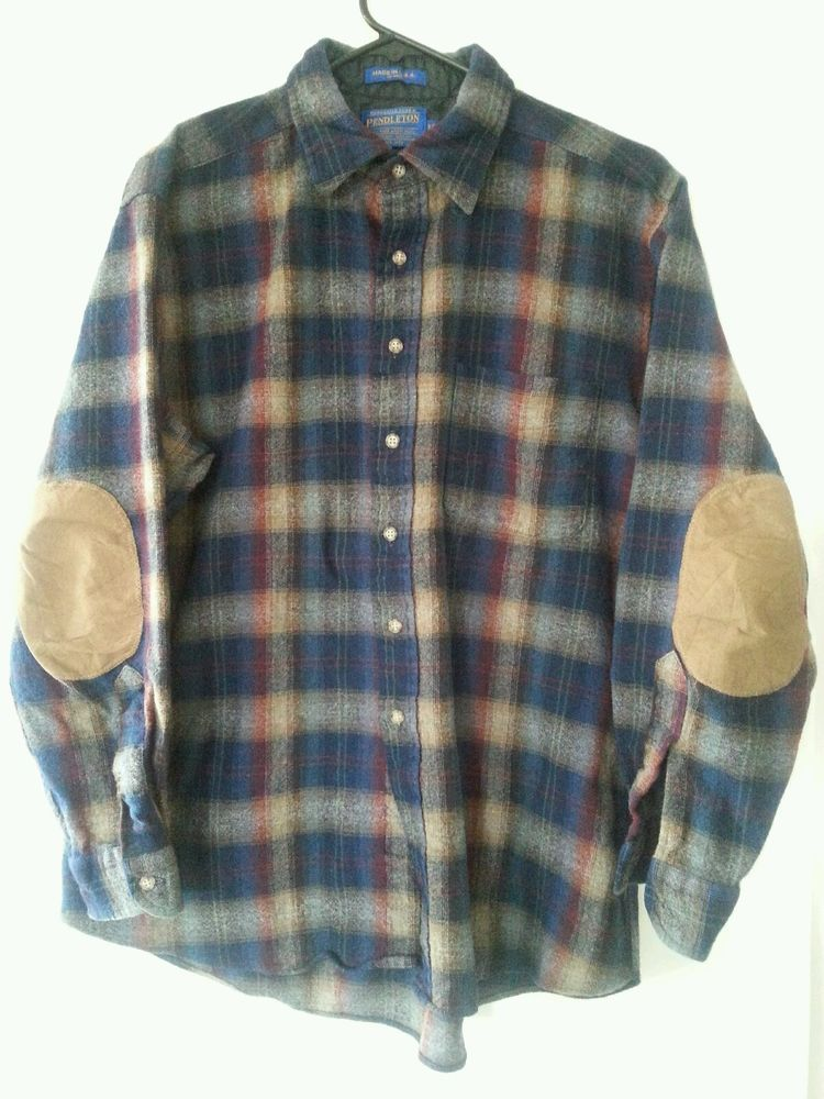 Pendleton XL Long Sleeves Suede Elbow Patches  #Pendleton #ButtonFront