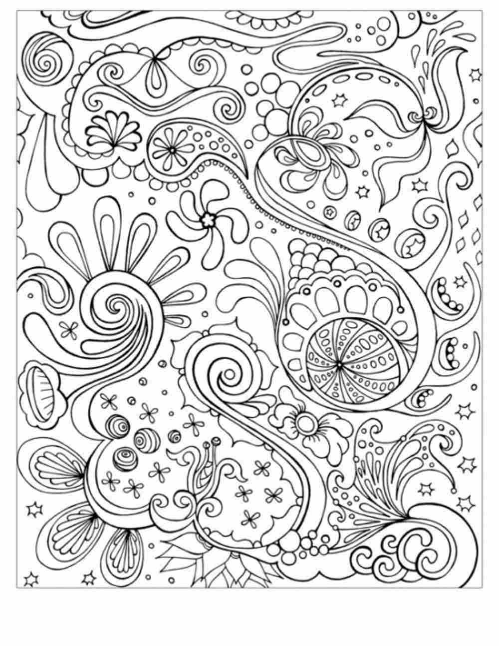 Abstract coloring pages for adults colouring for grownups
