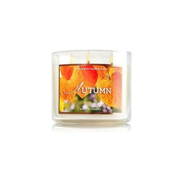 3-Wick Candle (€20) ❤ liked on Polyvore featuring home, home decor, candles & candleholders, fall candles, autumn home decor, autumn candles, fall home decor and 3 wick candles