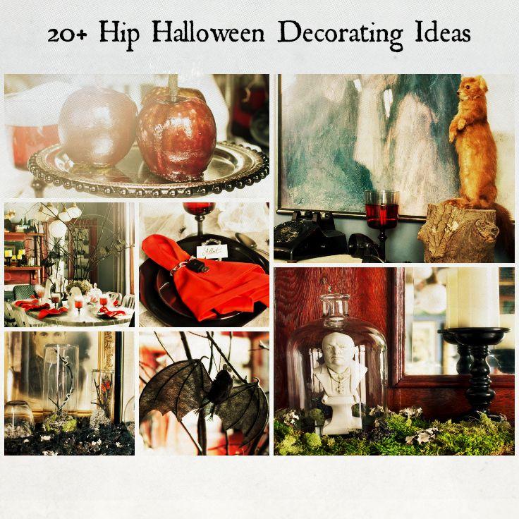 20+ Hip Halloween Decorating Ideas Holidays, Halloween ideas and - vintage halloween decorating ideas
