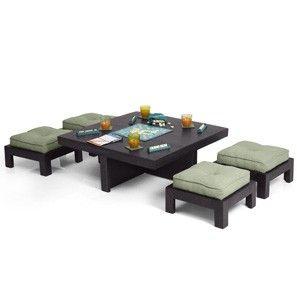 Kivaha Coffee Table Set (Ebony Finish) | Home | Pinterest | Den ...