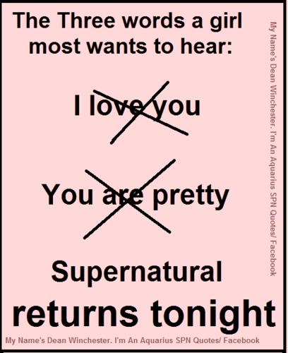 Supernatural returns tonight...finally!