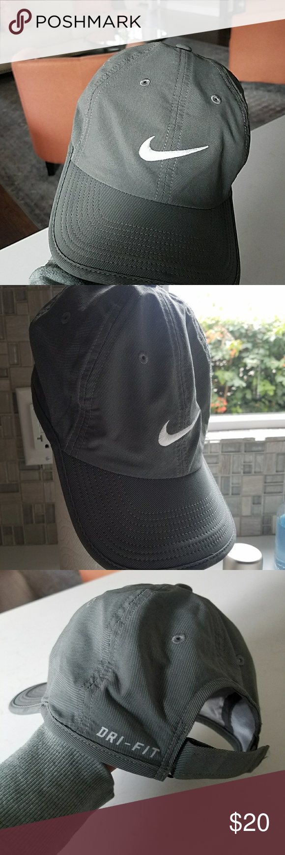 Nike Dri-fit cap Nwot . Olive green. Never worn. Light weight Nike  Accessories Hats 8ca6fb67fe6