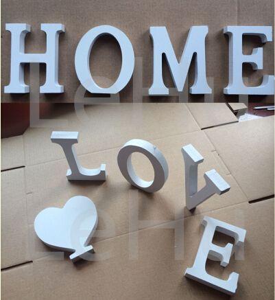 Home Decor Украшения толстый Деревянный Белыми Буквами Алфавита Свадьба  День Рождения 8 см Х 1.2 см