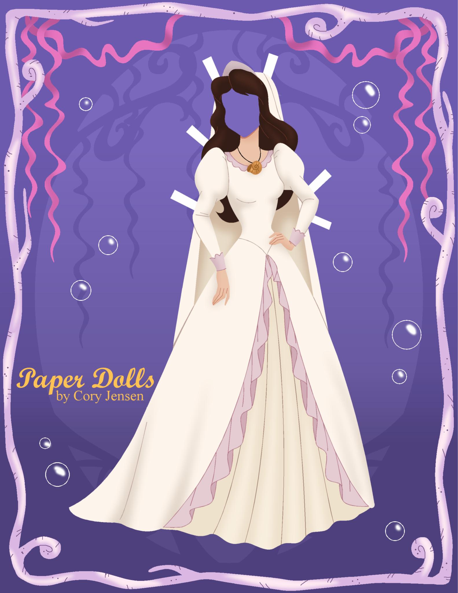 Vanessa Wedding Dress Paper Dolls By Cory Barbie Paper Dolls Princess Paper Dolls Vintage Paper Dolls