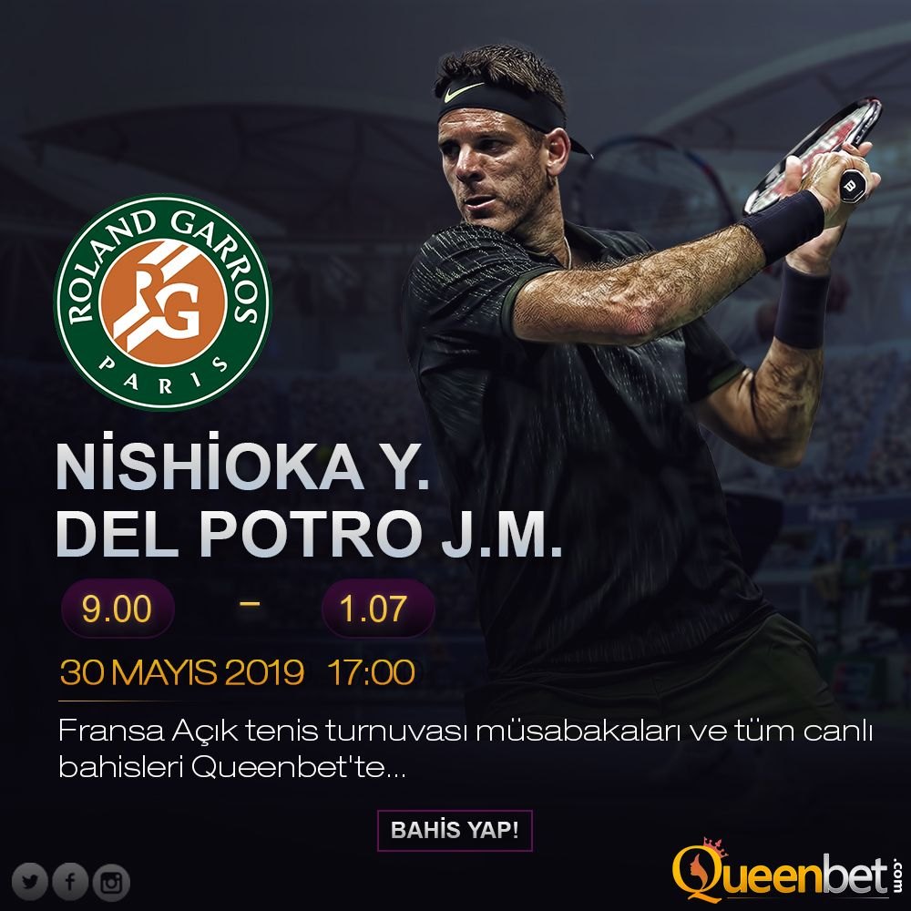 Nishioka Y. Del Potro J.M. 🎾 🏆 Fransa Açık Tenis