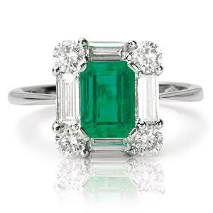 Rosendorff Green With Envy Collection Emerald and Diamond Ring.