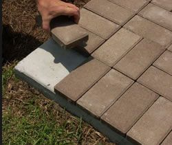Installing Thin Pavers Over Concrete House Of Man Amp Diy