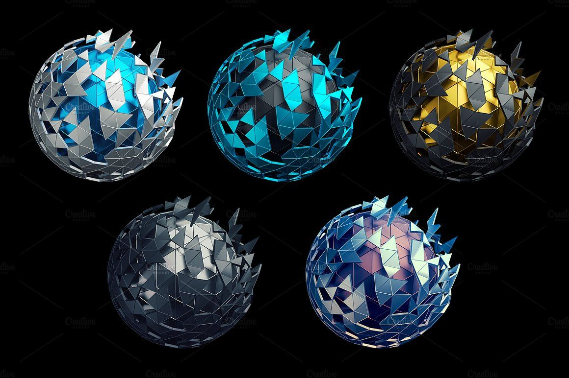 Abstract Spheres 3d Renders Abstract Spheres Illustration Artwork