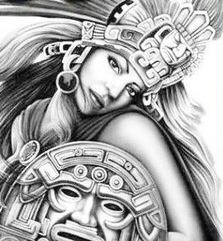 Chicano Art Coloring Pages coloring for adults kleuren voor volwassenen Aztec