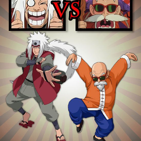 Master Jiraiya Vs Master Roshi Pervert Fight Available As Cards Prints Posters T Shirts Hoodies Kids Clothes Sticker Anime Anime Wallpaper Cartoon