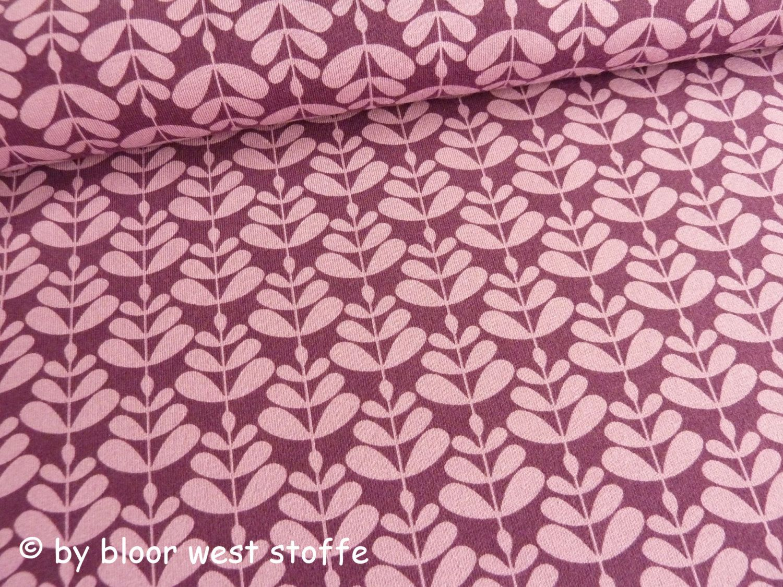 """Lillestoff Stretchjersey """"Charlotta"""", Purple by enemenemeins, Organic Cotton Fabric von BloorWestFabrics auf Etsy"""