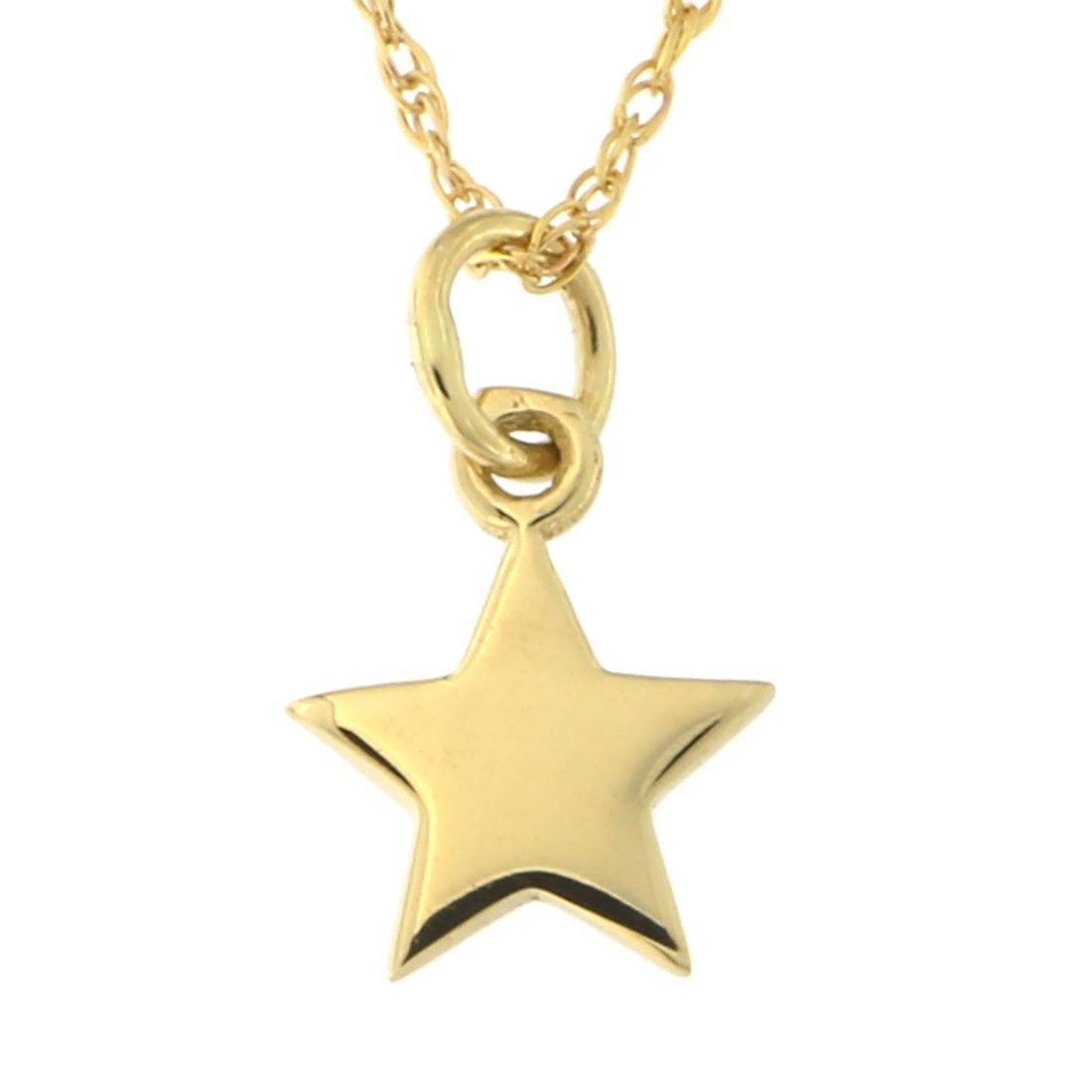 K yellow gold tiny star pendant necklace
